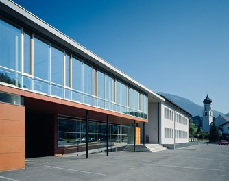 Primary School Schlins - detail of facade