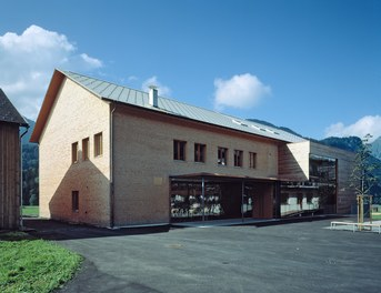 School Bizau - courtyard