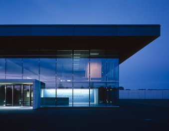 Cultural and Sports Center Gries - entrance at night