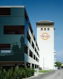 Revitalization Velag Area - glassfacade and tower