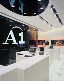 A1 Shop Mariahilfer Straße - showroom with counters
