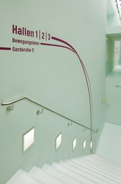 ETH Sport Center - staircase with guidance system