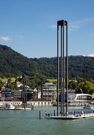 Harbor Bregenz - molo with lighthouse