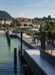 Harbor Bregenz - landing stage from bridge