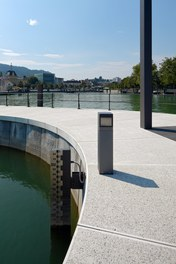 Harbor Bregenz - water-level indicator