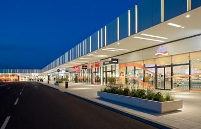 Marchfeldcenter - mall at dusk