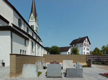 Cemetery Eschen - view from south
