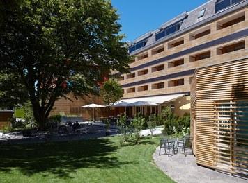 Hotel Schwärzler | conversion - garden with terrace