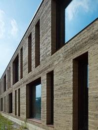 Agricultural College Mezzana - detail of facade
