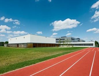 Bundesschulzentrum Ried - view from sports ground