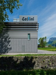 Collini Production Hall - detail of facade