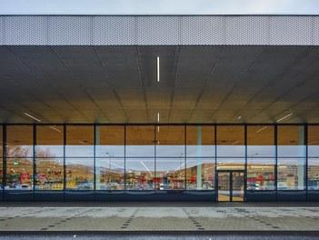 SPAR Dornbirn Schwefel - detail of facade