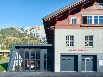 Fire Station Wald am Arlberg - detail of facade