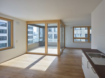 Stadtwerk West - living-dining room