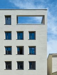 Katholisches Kompetenzzentrum Herrnau - detail of facade